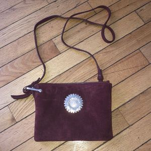 Maroon Sunflower '& Other Stories' bag